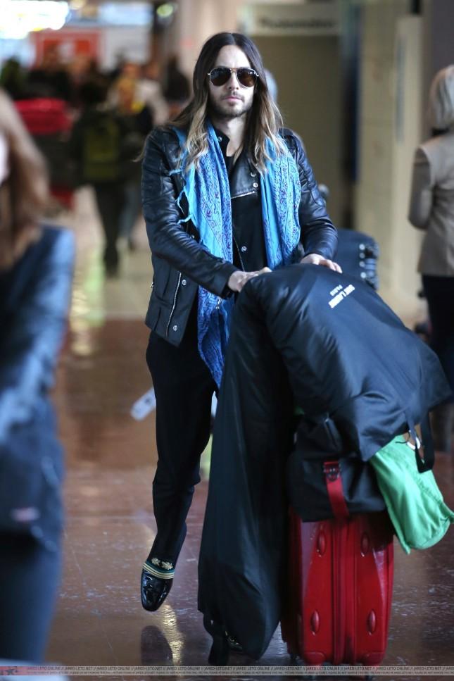 > At Charles de Gaulle Airport - Paris - 05 March 2014