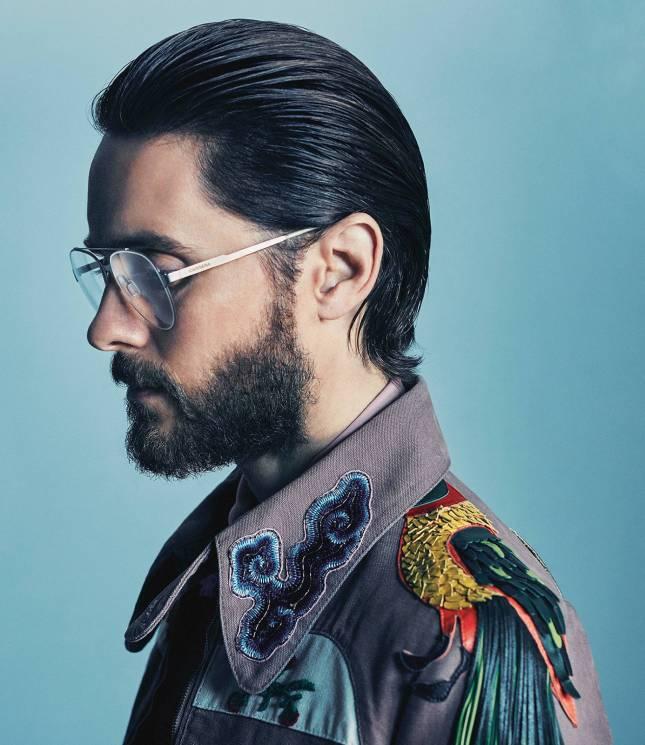 Jared Leto Gucci,  Dolce & Gabbana y gafas Carrera 3